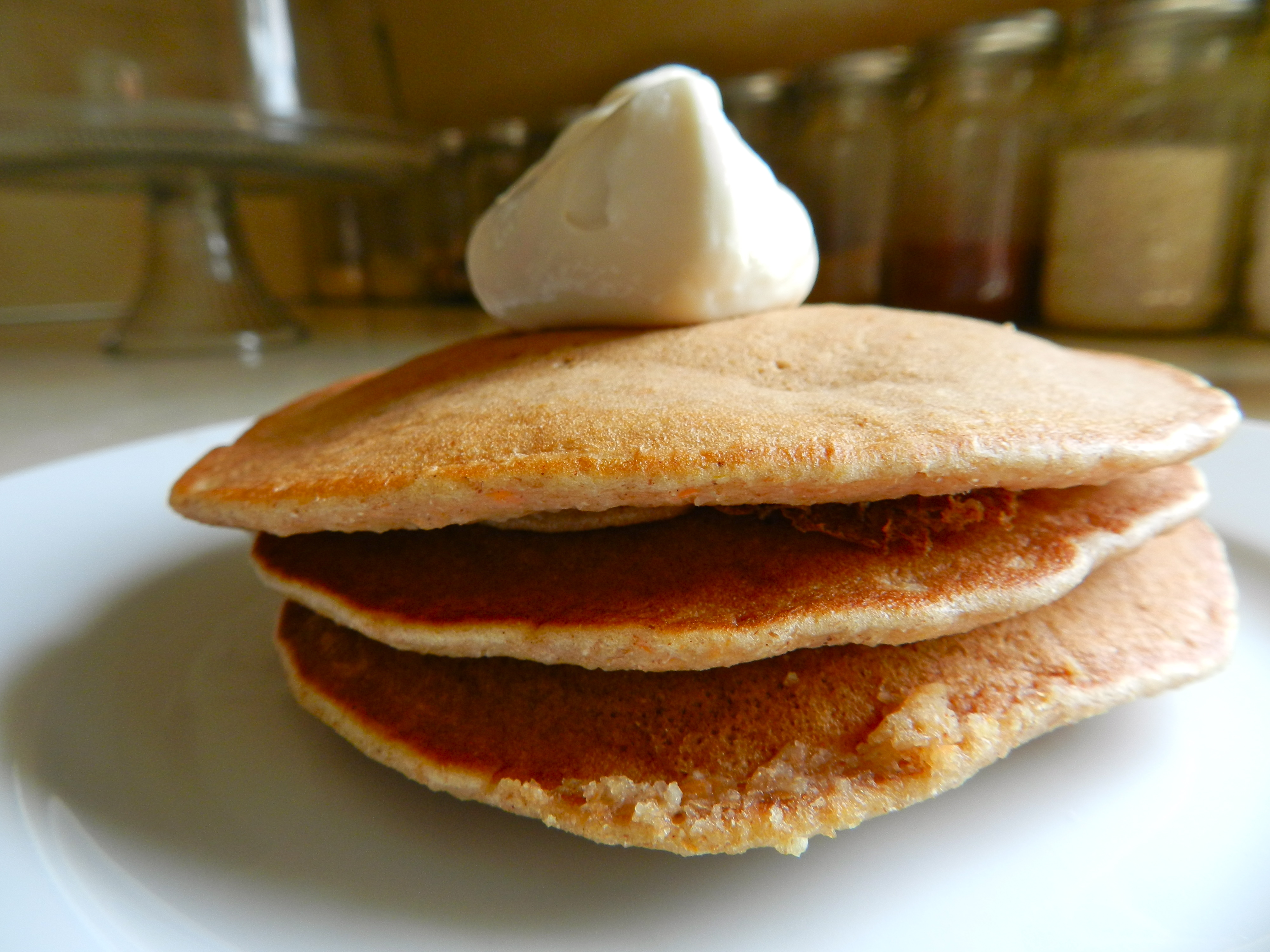 Carrot Cake Pancakes & Cream Cheese Syrup | Rachel Schultz
