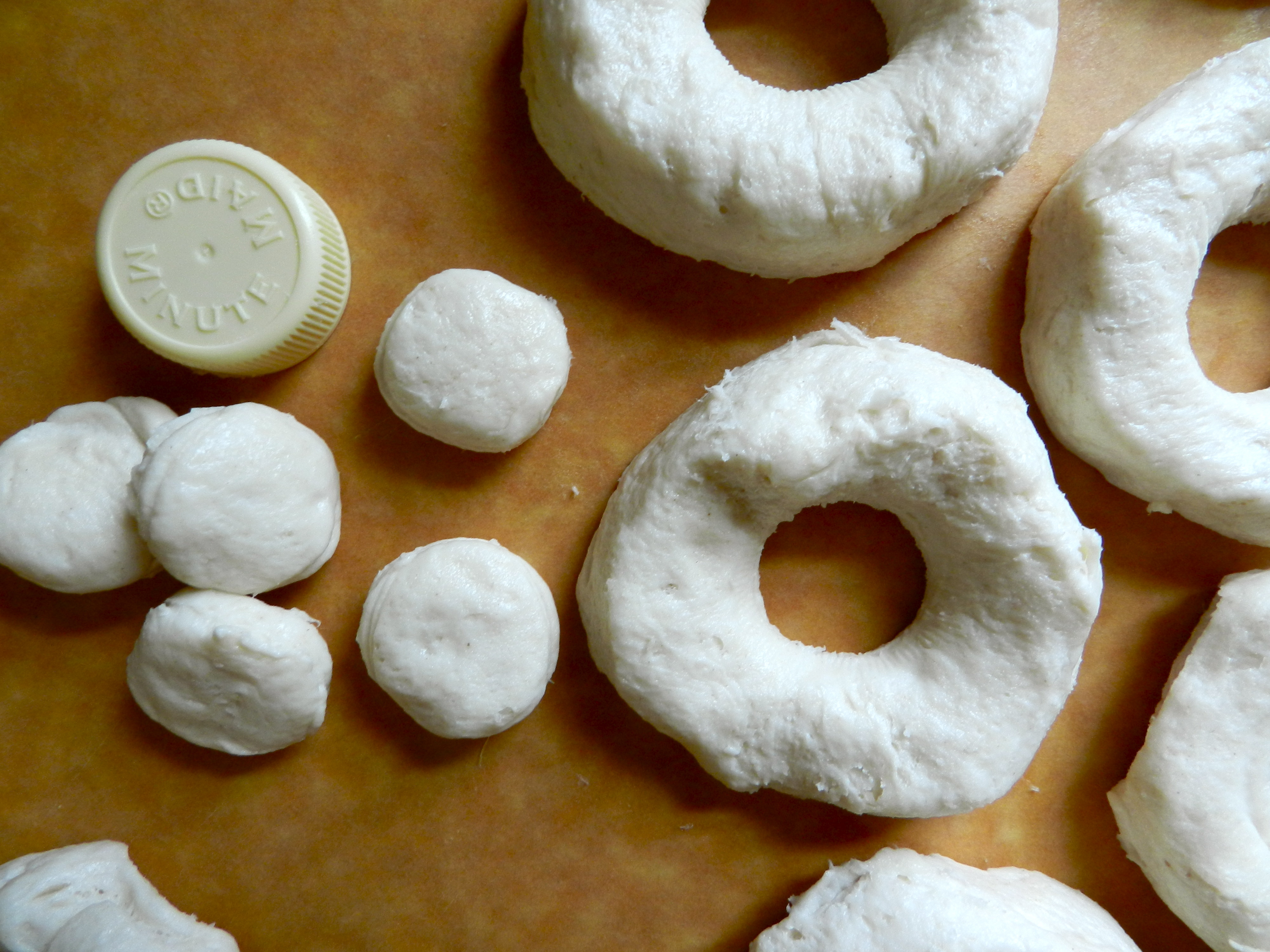 Place donuts in pan and cook for 1-2 minutes on each side, or until ...