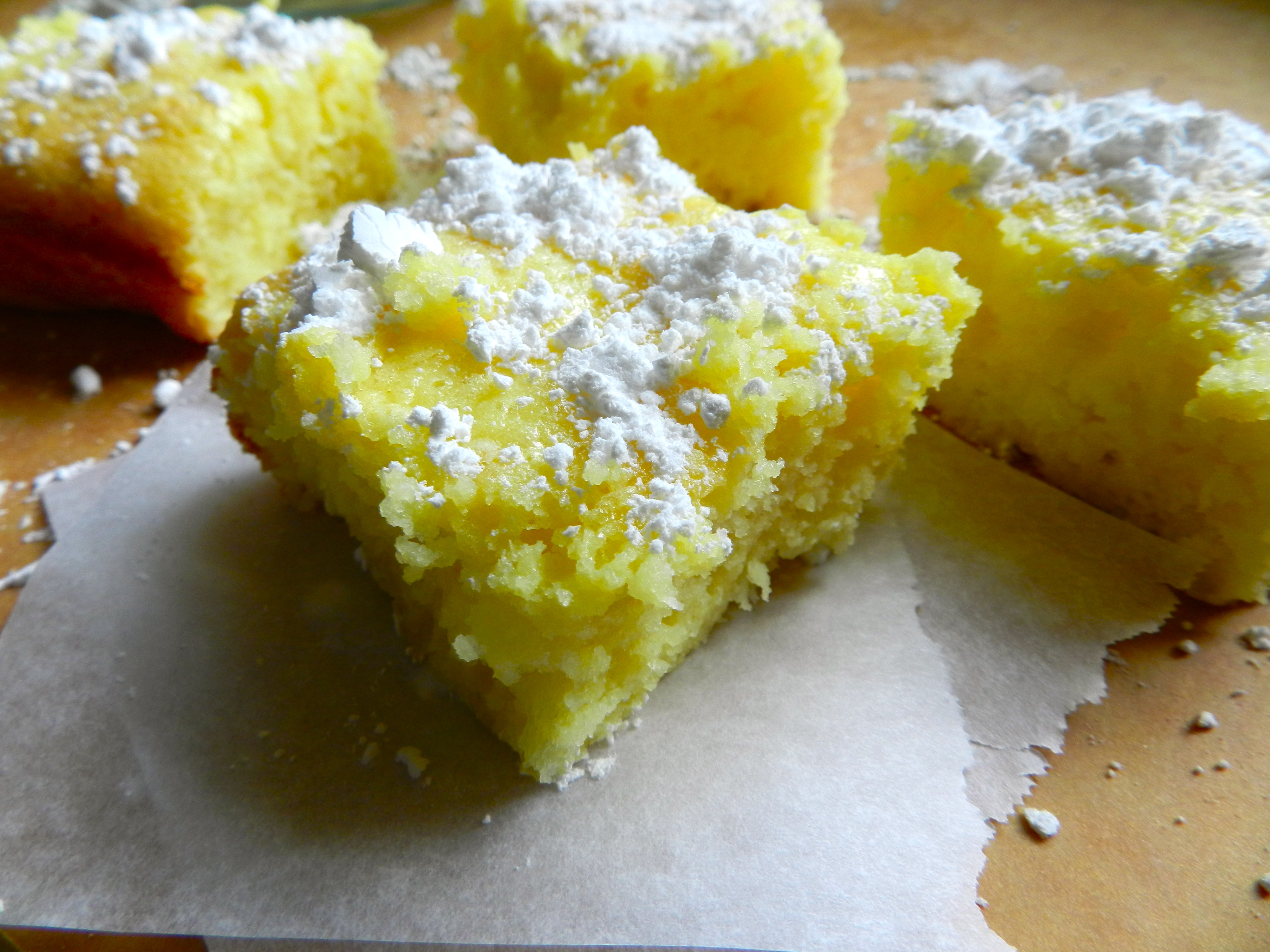 Lemon Cake Recipes Using Box Mix: Two Ingredient Lemon Bars