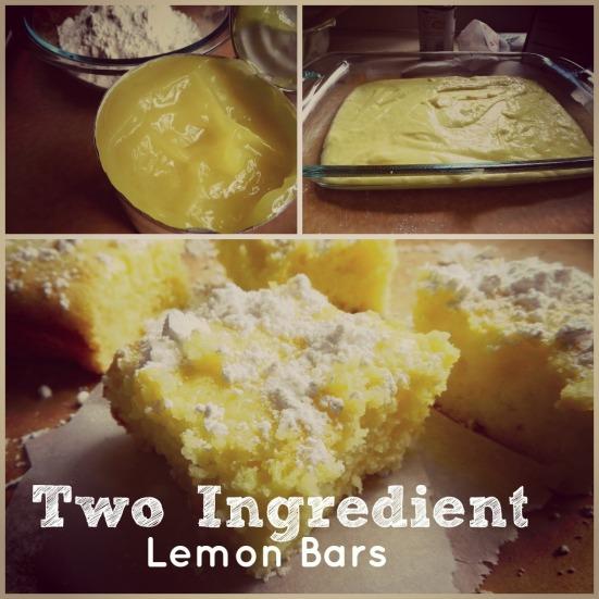 Angel Food Cake And Lemon Pie Filling Bars